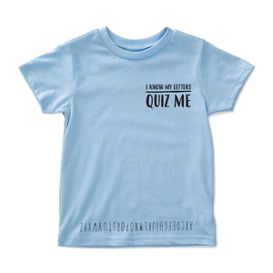 Alphabet Quiz Me Shirt Educational Clothing By Future People
