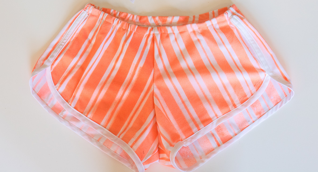 Striped Track Shorts