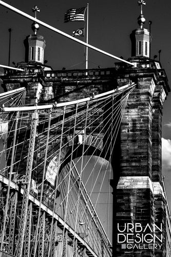 Cables of the Roebling Bridge (B&W)