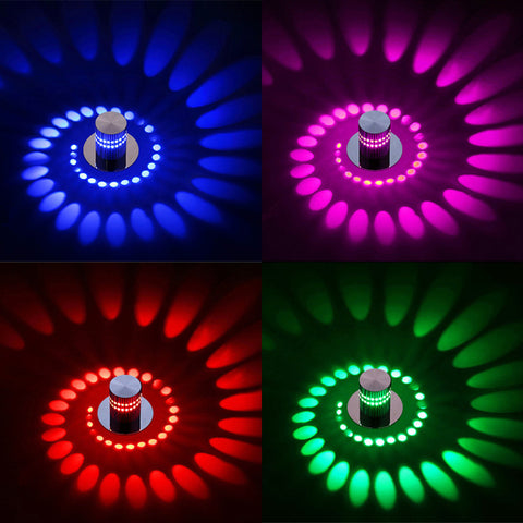 Modern LED Ceiling Light 3W RGB wall Sconce for Art Gallery Decoration Front Balcony lamp Porch light corridors Light Fixture