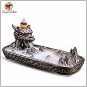 Ceramic Dragon Incense Burner and 10Pcs Incense Cones