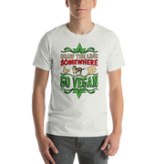 Short-Sleeve Unisex DRAW THE LINE - GO VEGAN T-Shirt