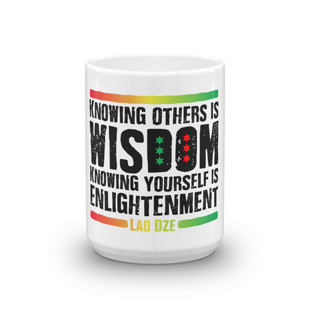 Lao Dze Laozi Mug knowing yourself is enlightenment