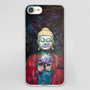 Buddha Design hard White Phone Case