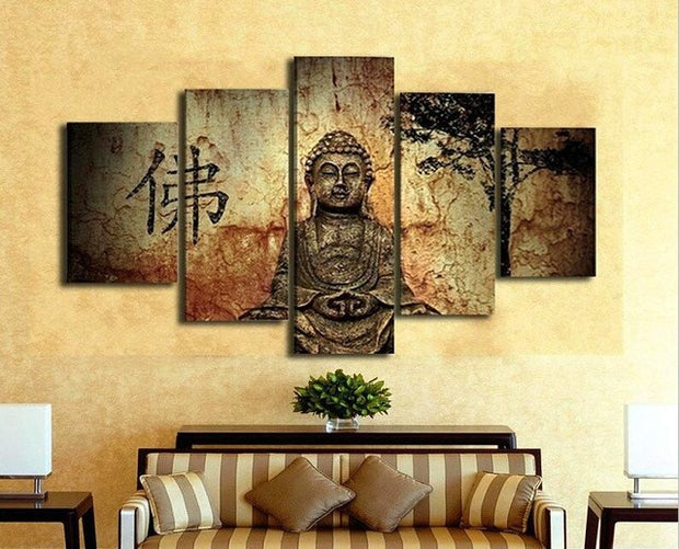 Unframed 5 Canvas Buddha Panels for Home Decor – Shopeast Asia