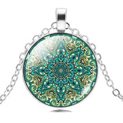Mandala Lotus Flower Necklace Pendant