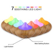 210ml Ultrasonic Essential Oil Diffuser with 7-Colors-LED Sleep Light
