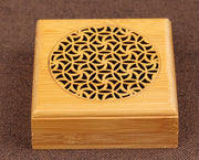 Bamboo Round Burners Sandal Incense Holder