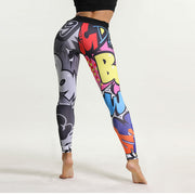 Sport Leggings Women Fitness Yoga Pants Cartoon Print Sport Pants Yoga Leggings Breathable Gym Jogging Running Tights Sport Wear
