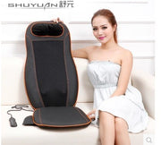 220V Electric back massager vibrator cheap body shoulder Heating GUA SHA massage chair sofa machine Neck masage cushion chair