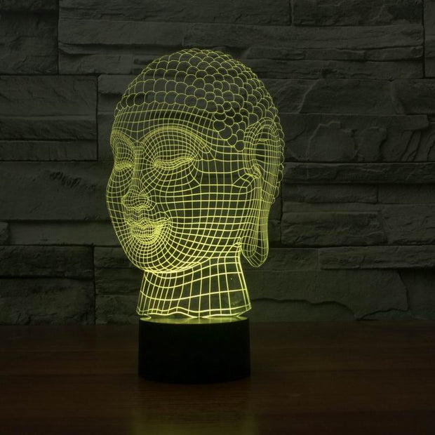 Hot selling 3d effect buddha shape touch light lamp FS-2929