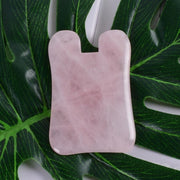 Massage Gua Sha Tool 100% Natural Rose Quartz Stone China Traditional Facial SPA Acupuncture Scraping Healing For Health Care