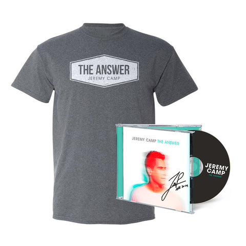 The Answer Autographed CD + T-Shirt Bundle
