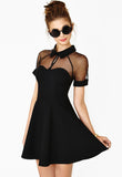 Little Black Dress. Black Contrast Transparent Sheer Mesh Hollow Dress. The top 10 best Little Black Dresses.