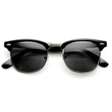 VINTAGE HALF FRAME POLARIZED HORNED RIM SUNGLASSES 2936d-A
