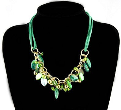 Teardrop Resin Bean Fashion Necklace