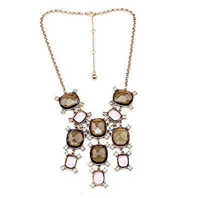 Faced Geometry Bling Pendant Luxury Necklace