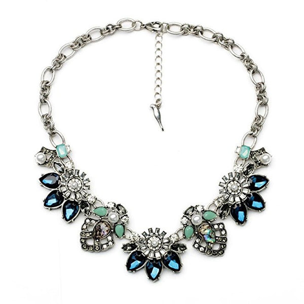 Rhinestone Crystal Reasin Statement Fashion Necklace for Women