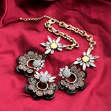 Hollow Flower Crystal Chain Fashion Necklace