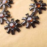 Rhinestone Flower Vintage Fashion Chunky Necklace