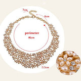 Inspired Pearl Rhinestone Crystal Fashion Necklace