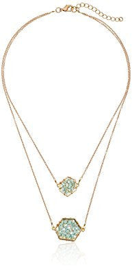Mint Crystal Geo Extended Necklace