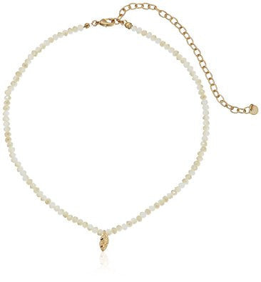 Ivory Crystal Charm Necklace