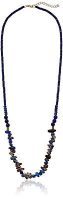 Lapis Beaded Crushed Stone Strand Necklace
