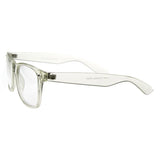 SUPER CLEAR TRANSPARENT CRYSTAL FRAME HORNED RIM GLASSES 8050d-A