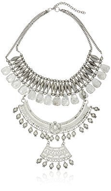 Silver Extended Tribal Statement Necklace