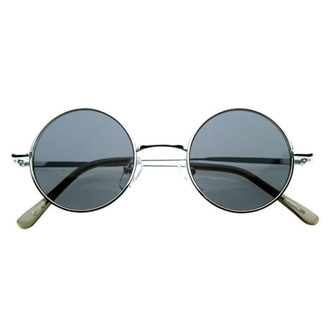 RETRO HIPPIE METAL LENNON ROUND COLOR LENS SUNGLASSES 8594d-A