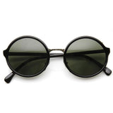 VINTAGE STEAMPUNK CLASSIC ROUND METAL BRIDGE SUNGLASSES 8407f-A