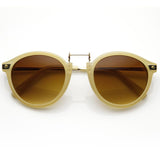 VINTAGE STEAMPUNK INSPIRED ROUND HORNED RIM FRAME SUNGLASSES 8591d-A