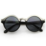 WOMEN'S DESIGNER TWO TONE ROUND SUNGLASSES 8606d-A