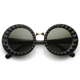 DESIGNER FASHION ROUND CIRCLE WOMEN'S SUNGLASSES 8772e-A