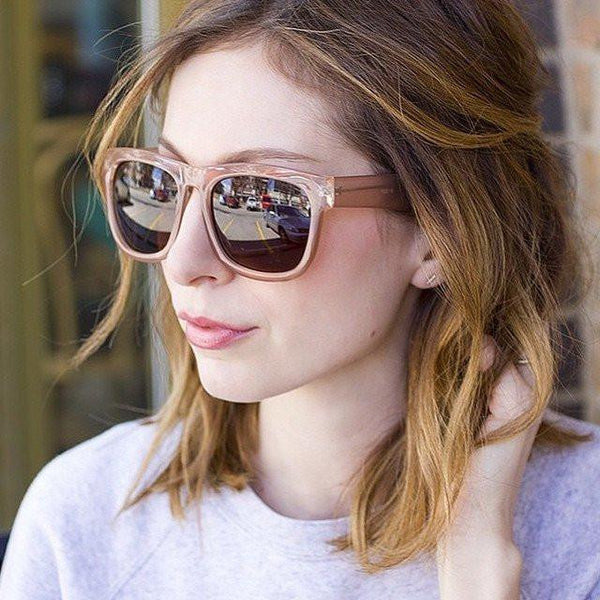 "ZEROUV ""HARLOW"" OVERSIZE TRANSLUCENT HORNED RIM WOMENS SUNGLASSES ZV102g-A"