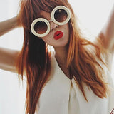 RETRO 1950'S WOMEN'S FASHION DONUTS ROUND RETRO SUNGLASSES 8971f-A