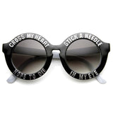 WOMEN'S CROSS MY HEART HOPE TO DIE ROUND SUNGLASSES 9128d-A