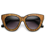 INDIE TRENDY WOMENS BLOCK CUT OVERSIZE CAT EYE SUNGLASSES 9160d-A