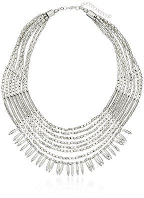 Silver Beaded Tribal Necklace
