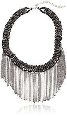 Smokey Crystal with Hematite Fringe Necklace