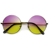 RETRO HIPPIE ROUND MULTI COLOR RAINBOW LENS SUNGLASSES 9204d-A