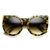 WOMEN'S DESIGNER SUPER BOLD ROUND CAT EYE SUNGLASSES 9278l-A