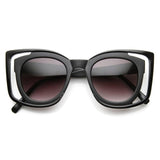 UNIQUE DOUBLE FRAME SQUARE WOMEN'S FASHION SUNGLASSES 9417d-A