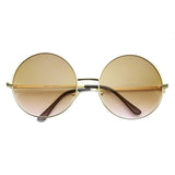RETRO HIPPIE OVERSIZE ROUND COLOR GRADIENT LENS SUNGLASSES 9578e-A