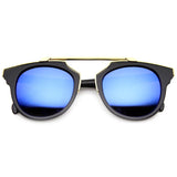 INTRICATELY DESIGNED HORNED RIM MIRROR LENS SUNGLASSES 9754e-A