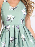 Summer Romantic Multicolor Striped Flower Print Crisscross Dress