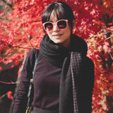 "ZEROUV ""AVA"" RETRO INDIE FASHION ROUND P3 KEY HOLE SUNGLASSES ZV104e-A"