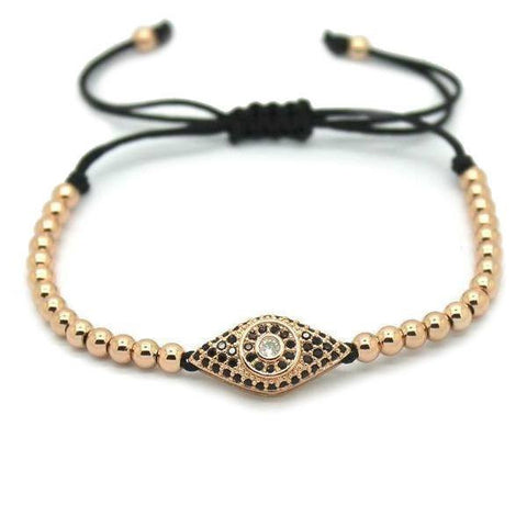 18K Gold Plated Beads and Hamsa Bracelet [4 Variations]