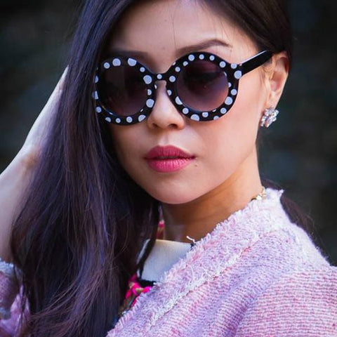 TRENDY WOMENS FASHION OVERSIZE ROUND CIRCLE SUNGLASSES 9131f-A